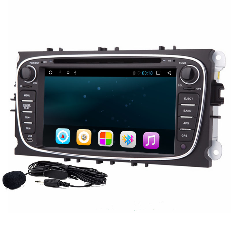 7Android 6.0 Car DVD GPS Navigation for Ford Focus Ford Mondeo 2012 2013 2014 with Dual Core Radio Wifi steering wheel control