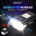 INFUN GT200 Fernbedienung Fahrrad Front Licht 2200 Lumen USB Aufladbare MTB Scheinwerfer IPX 4 Radfahren Rennrad Taschenlampe
