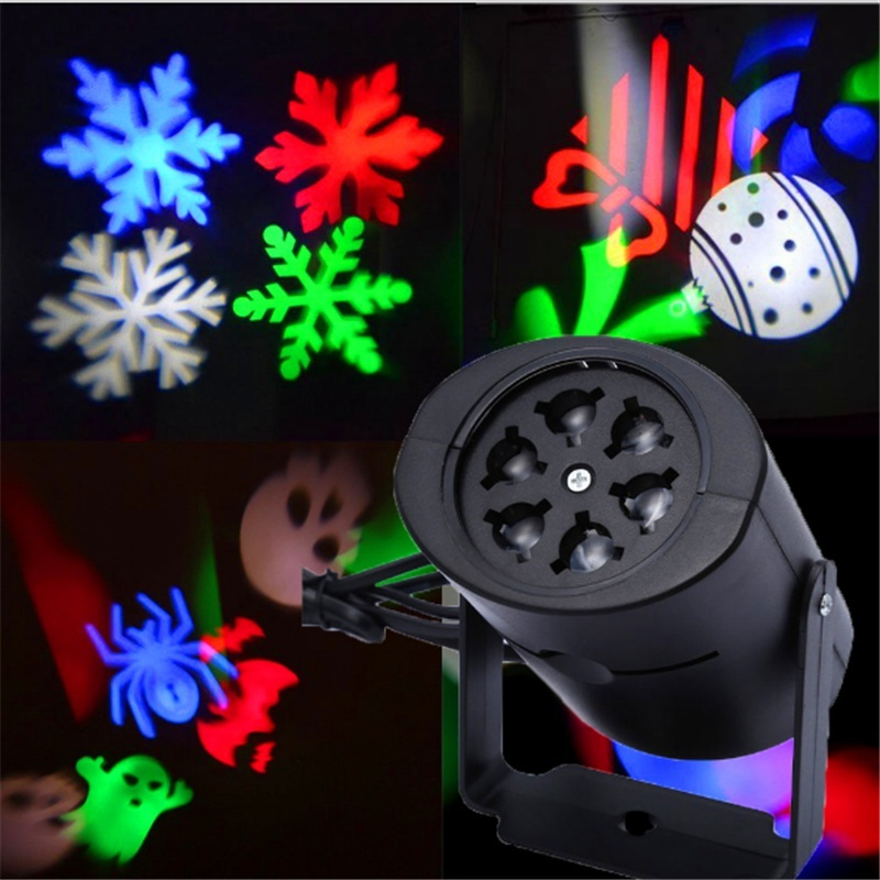 4W Laser Projector Lamps LED Stage Light Heart Snow Spider Bowknot Bat for Christmas Party Landscape Light Garden Lamp Outdoor недорого
