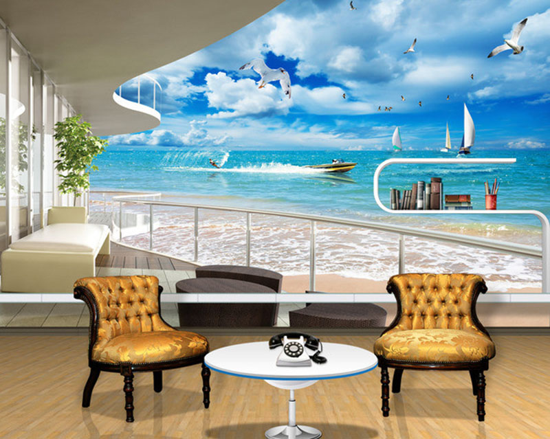 Modern Home Custom 3D Mural Wallpaper Sofa Bedroom TV Backdrop Wall Paper Mural Painting Beautiful Time Balcony Wall Mural Paper book knowledge power channel creative 3d large mural wallpaper 3d bedroom living room tv backdrop painting wallpaper
