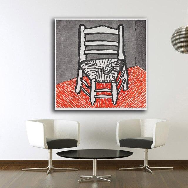 Impression Peinture A Lhuile De Van Gogh Chaise Blanc 1998 Par David