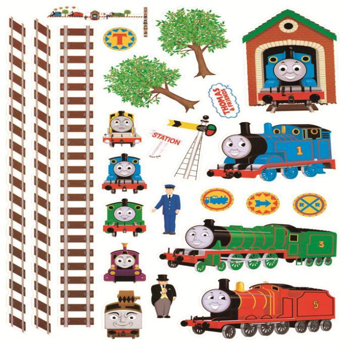 Thomas kereta kartun stiker dinding vinil untuk anak anak