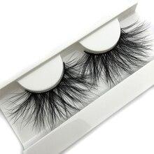 Mikiwi 25 мм 3D норковые ресницы E04, 100% толстые мягкие натуральные накладные ресницы 25 мм для макияжа, эффектные длинные ресницы