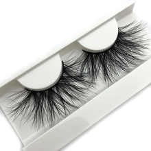 Mikiwi 25mm 3D Vizon Kirpiklere E04 100% Zulüm ücretsiz Kalın yumuşak Doğal 25mm Vizon takma kirpikler Makyaj Dramatik Uzun lashes