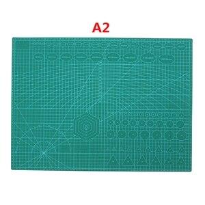 A2 almohadilla antideslizante de PVC estampado por los dos lados esterilla de corte autocurativa artesanía acolchado álbumes de recortes tablero de tela de retales herramientas de manualidades de papel