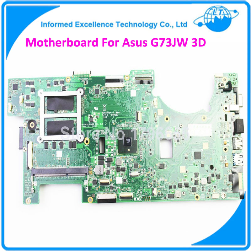 Motherboard For ASUS G73JW DDR3 Laptop Mainboard Fully Tested Good Warranty 45days 2D Connector Board 4 Memory Slots MB  for asus ux31a laptop motherboard ux31a2 rev4 1 2 0 mainboard with intel core i7 3537u 4gb fully tested 60 days warranty