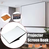 20 Inch DPL Projector Screen 4:3 41cm x 28.6cm Projector Screen Book Fabric Material Matte White For Home Theater