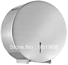 Hotel bar club home office building project stainless steel wall hung WC big roll paper dispenser holder