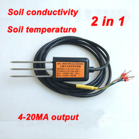 Free Shipping EC10 Output 4 20MA Soil Conductivity Temperature Sensor Quality Ec Conductivity 2IN1