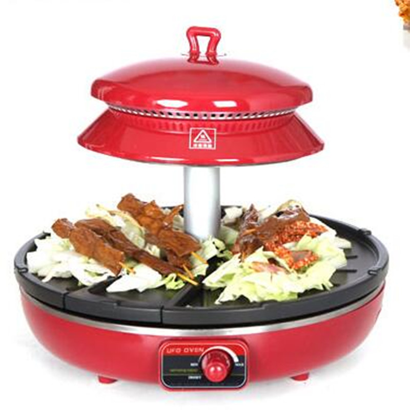 220V Smokeless Electric Non-stick BBQ Grill Barbecue Grade Diameter 35CM Infrared 3D Grill Grade For Family Party two premium bbq mats the only non slip never stick no mess dishwasher safe grill sheet you ll ever need perfect for cooking baking and for the barbecue 100% satisfaction guaranteed grillite bbq mats