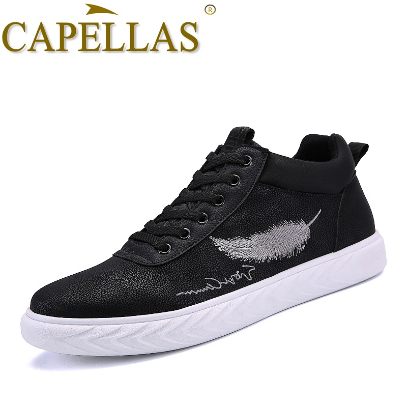 CAPELLAS Fashion Brand Men Leather Shoes Mens Fashion Casual Shoes Breathable Sport Desi ...