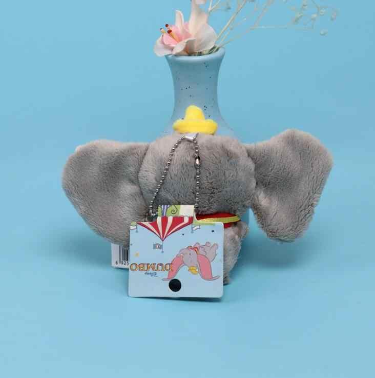 Genuine Da Disney 10cm Stuffed Animal Plush Toy mini Pingente Adorável Peluche Bonito Dumbo Elefante Dos Desenhos Animados Boneca Apresenta para As Crianças