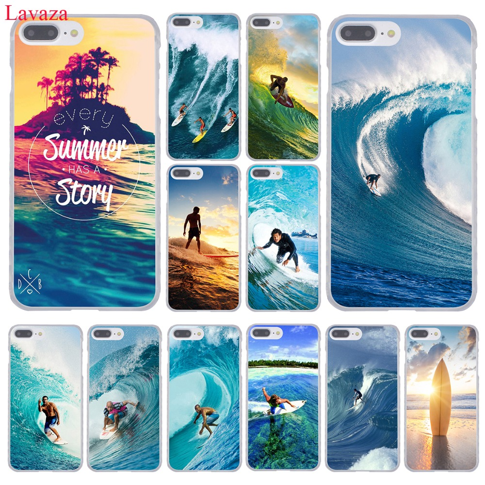 Lavaza Sea Wave Surf Summer Surfing Ocean Phone Case For Apple IPhone XR XS Max X 8 7 6 6S Plus
