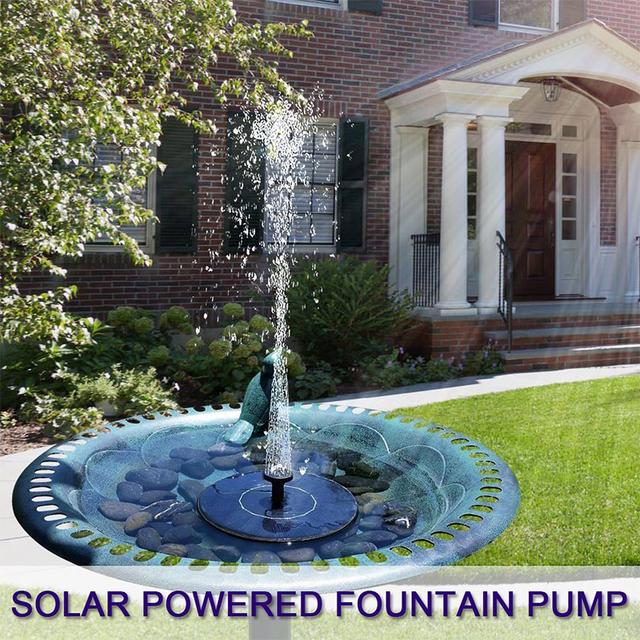 Garden Solar Fountain Pond Pump with 1.4W Mono-crystalline Solar Panel Water Pump Solar Floating Fountain Pump for Garden