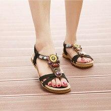 Sandalias femeninas Zapatos Planos Mujer Mujeres Zapatos de Cuero Suave Deslizamiento en Zapatillas Casuales Sandlas