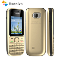 100% Original Nokia C2 01 Unlocked Mobile Phone C2 2.0 3.2MP Bluetooth Russian&Hebrew keyboard Refurbished GSM/WCDMA 3G Phone