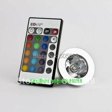 2016 hot selling DC12v 3w mr16 dimmable rgb led spotlight + IR remote controller, CE&ROHS,10pcs/lot wholesale,free shipping!