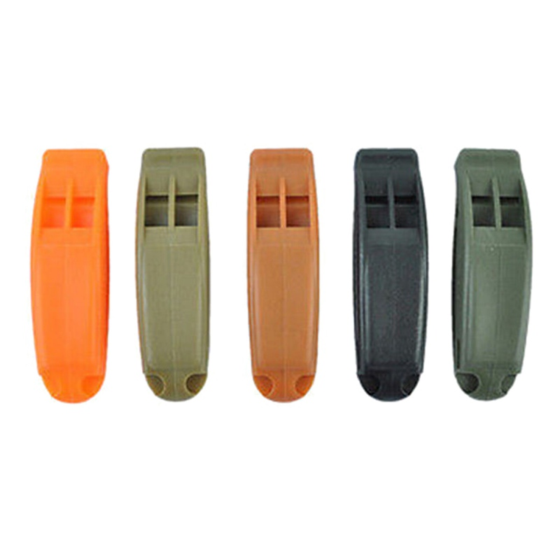 2pcs Double-Frequency Whistle Outdoor Survival Lifesaving Whistle Safety Camping Emergency Whistle Random Color