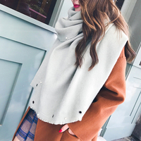 Fashion Luxury Brand Winter Scarf Soft Thick Warm Blanket Women Solid Color Scarves Wrap Cashmere Scarf Shawl Pashmina