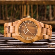 Newest Wood Watch for Men Natural Olive Wood