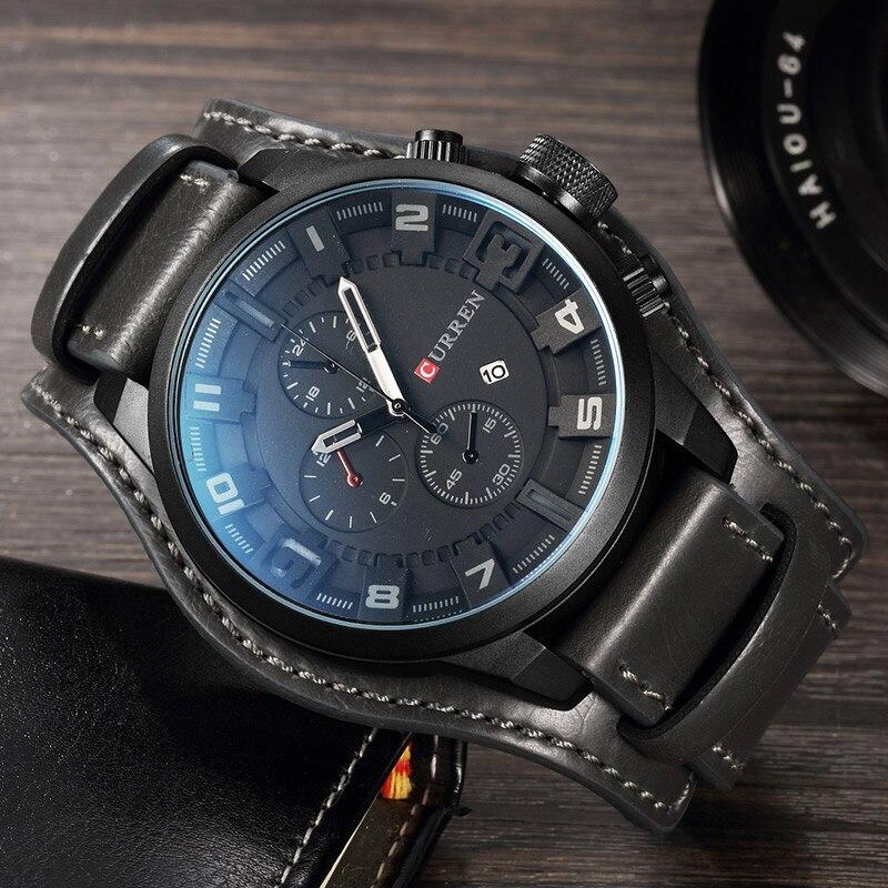 Relojes CURREN para hombre de alta marca de lujo a la moda e informal de cuarzo reloj de pulsera a prueba de agua Hodinky reloj Masculino