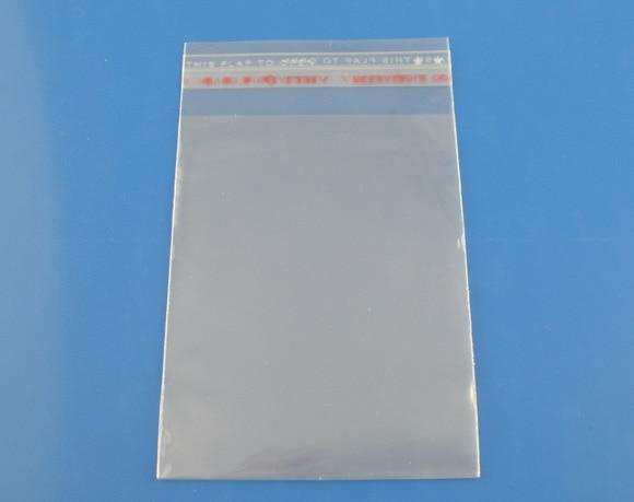 Doreen Box 200PCs Self Adhesive Seal Plastic Bags, 5x10cm  (B03362)