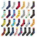PEONFLY 2019 Модные цветные хлопковые носки в горошек для мужчин счастливые носки прилив бренд Харадзюку повседневное смешные мужские носки Meias
