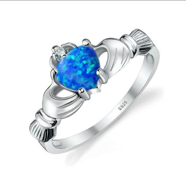 Mode Liebe Ring Paare Ring Edelstahl Kristall Strass Verlobungsring