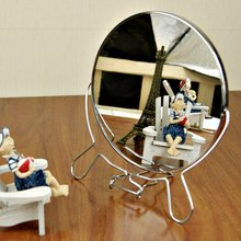 2016 fashionable portable folding mirror desktop double-sides cosmetic mirror Rotatable double-sided makeup table mirror