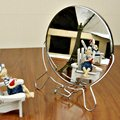 2016 moda portátil dobrável espelho de maquilhagem espelho de mesa duplo-sides Rotatable double-sided espelho mesa de maquiagem