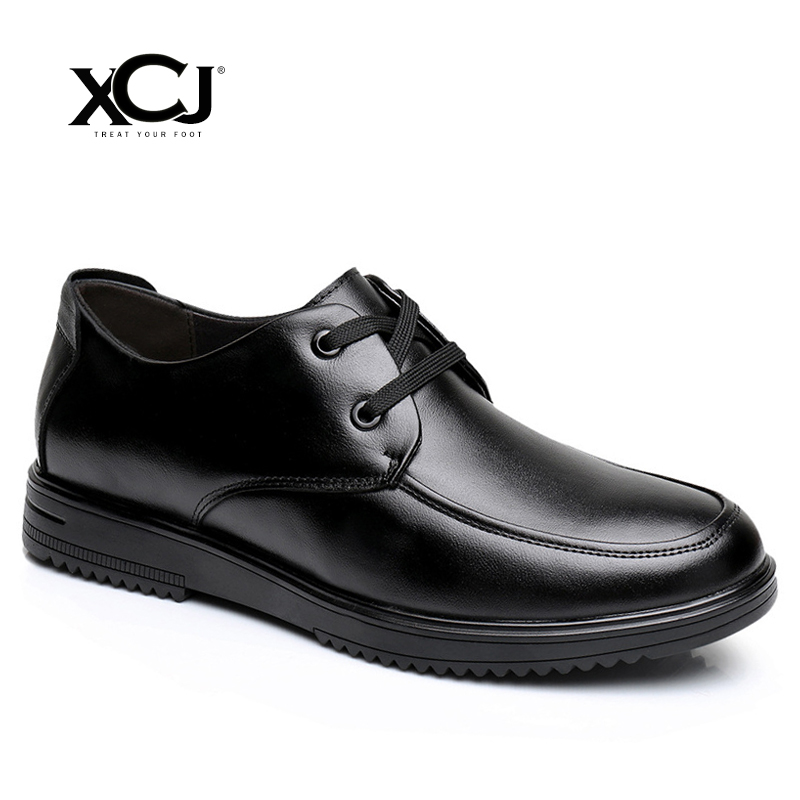 XCJ Men Casual Shoes Men Shoes Brand Men Sneakers Leather shoes Winter Genuine Leather shoes Men Flats Lace Up Plus Big Size men s leather shoes vintage style casual shoes comfortable lace up flat shoes men footwears size 39 44 pa005m