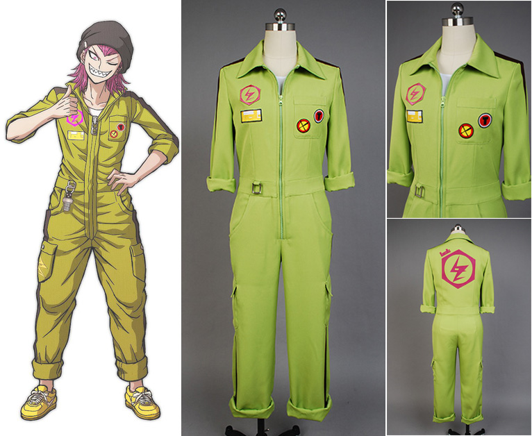 Super Danganronpa Kazuichi Souda Uniform Male Coat Top Shirt Scarf Anime Halloween Game Cosplay Costumes For Men Custom Made