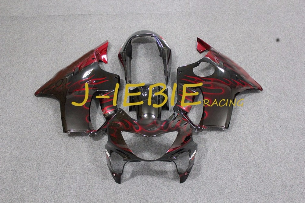Red black fire Injection Fairing Body Work Frame Kit for HONDA CBR600 CBR 600 F4 1999 2000Red black fire Injection Fairing Body Work Frame Kit for HONDA CBR600 CBR 600 F4 1999 2000