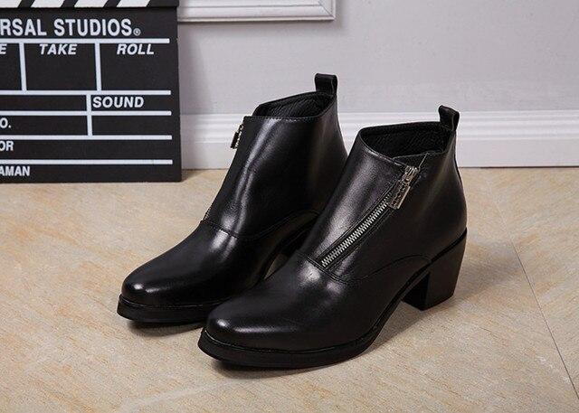 2879505e67 Trepadeiras Sapatos Zíper Lateral moda Casual Homens Do Exército Botas  Homens Se Vestem Sapatos Masculinos Sapatos