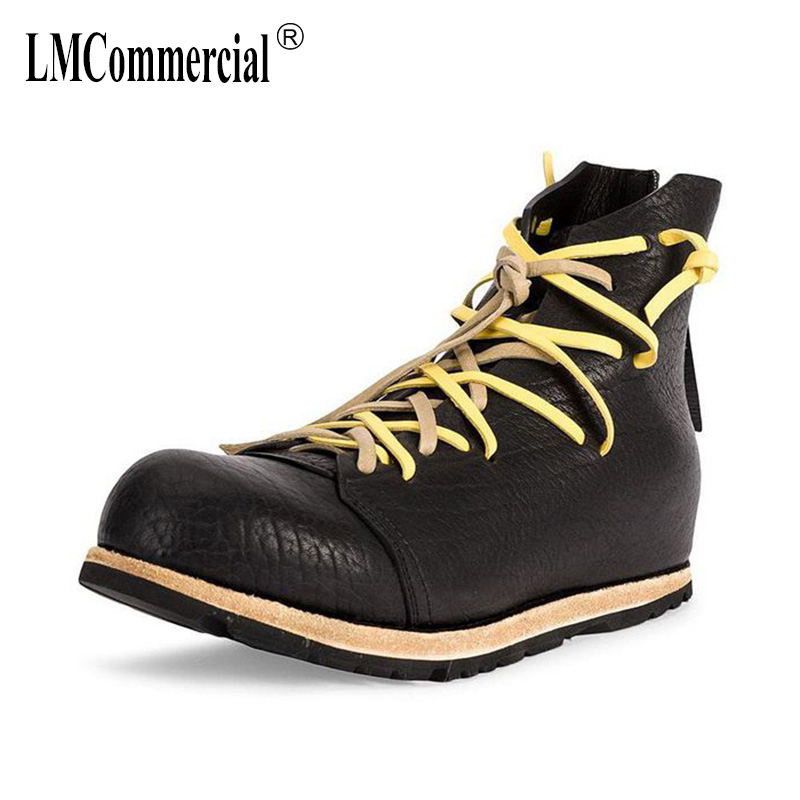 men's shoes Korean hip-hop shoes men real leather casual shoes autumn winter all-match cowhide British retro Martin boots desert the winter warm british retro men shoes cowhide cashmere male shoes leather all match trend of korean youth men s casual shoes