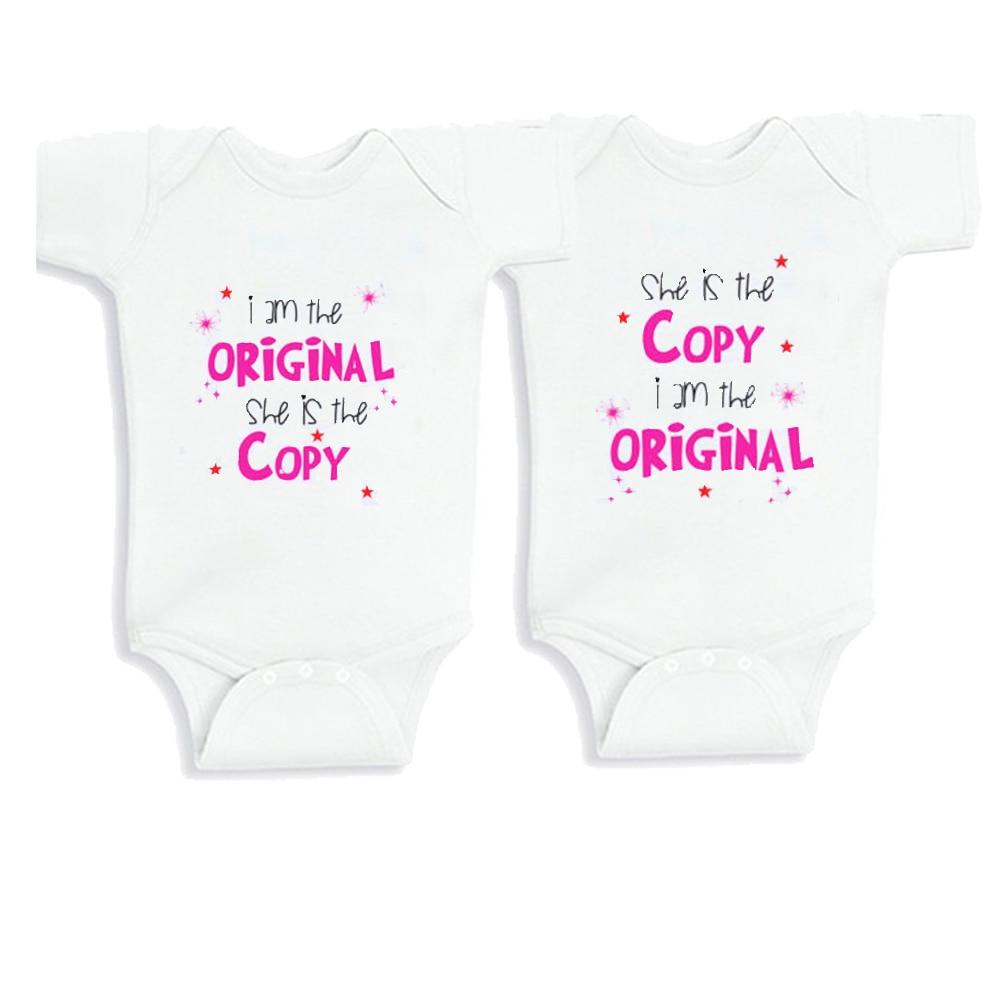 Baby Girl Twins Kleding voor baby meisje Gift Korte mouwen Twins - Babykleding