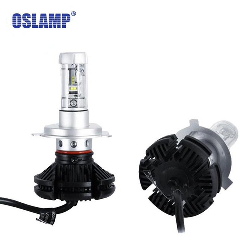 Oslamp X3 Car LED Headlights Bulbs H4 H7 H11 9005 9006 H13 50W 6000LM CREE Chips All in one CSP LED Headlamp 3000K 6500K 8000K nighteye 50w 8000lm h4 h13 h7 h11 9005 9006 led car headlight bulbs seoul chips csp led headlights all in one lamp front light