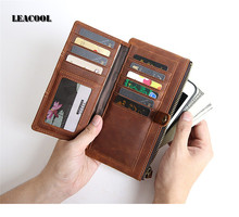 RUSSIA Real Cowhide Genuine Leather Wallet Cover Holder Porta Postcards Wallets Case Travel Card Wallet Car Phone Bag Covers