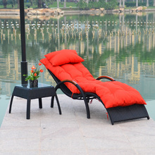 Happy chair recliner chairs rattan outdoor balcony couch lazy pool office lunch break single person