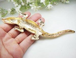Image 4 - Vintage Gecko Del Pendente Animale Donna Coccodrillo Spilla Spille Chiaro di Cristallo Lucertola
