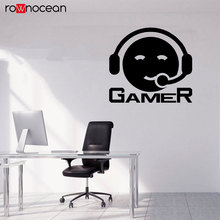 Video Game Wall Decals Art Gamer Vinyl Sticker Boys Bedroom Playroom Decoration Headphone Decal 3089
