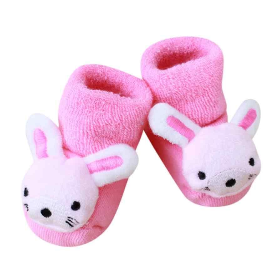 Adorables bonitos dibujos animados niños recién nacidos niñas niños calientes zapatillas Botas niña niño bebé niño calcetines animal infantil suave calcetines