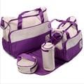 5 PC definir Multifuncional grande capacidade saco mãe saco Múmia sacos de ombro diagonal pacote Mummy saco do bebê de moda para mulheres grávidas