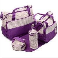 5PC Set Multifunctional Large Capacity Mother Bag Mummy Bags Shoulder Diagonal Fashion For Pregnant Women Mummy