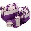 5 UNID conjunto Multifuncional de gran capacidad de la madre de La Momia bolsas de hombro diagonal bolsos de moda para las mujeres embarazadas Momia paquete de bebé bolsa