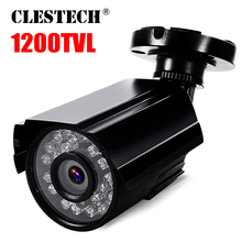 цена на Metal Real 1200TVL CCTV Security Surveillance HD Mini Camera ircut infrared 24LED 30m Night Vision Waterproof IP66 Color vidicon