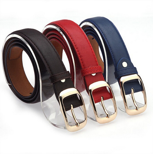 Faux Leather Metal Buckle Straps