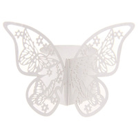 50pcs Butterfly Paper Napkin Rings for Wedding Party decoration Wedding Favors
