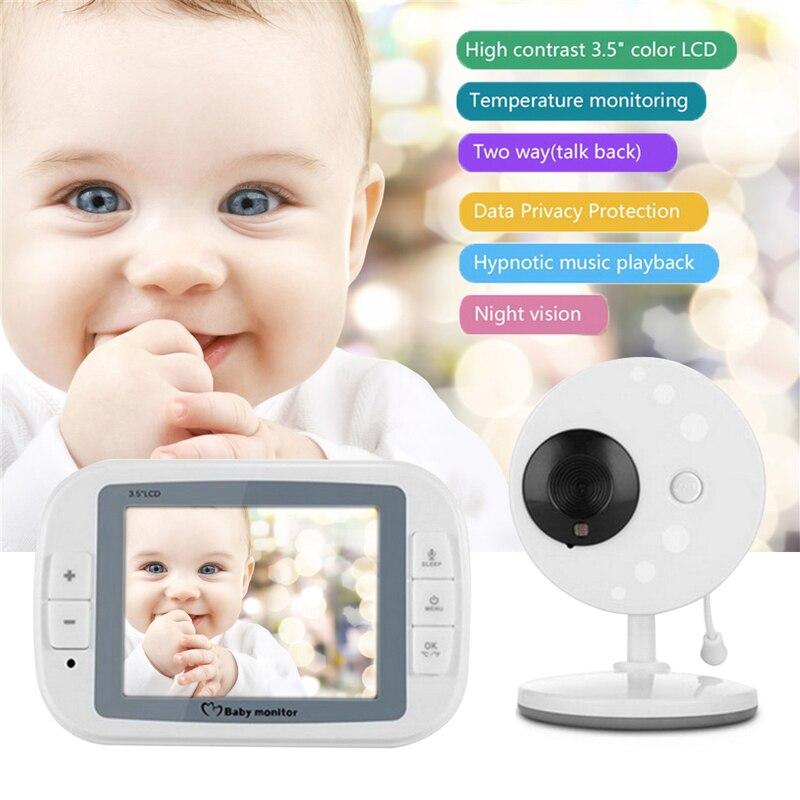 Hoomall Wireless Video Baby Monitor Night Vision Camera Video 3 5inch LCD Sreen Baby Sleep Monitor