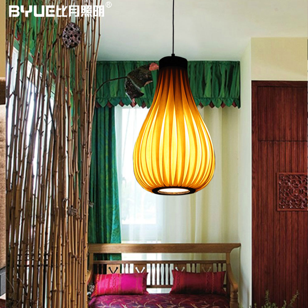 Chinese Style Originality Veneer Pendant Light  Wood Small Dining Room Light Restaurant Light Free Shipping new arrival chinese style lamps log wood pendant light japanese style tatami pendant light 053b free shipping